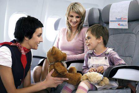 Малыш и стюардесса