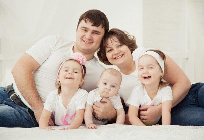 большая семья, дети в семье