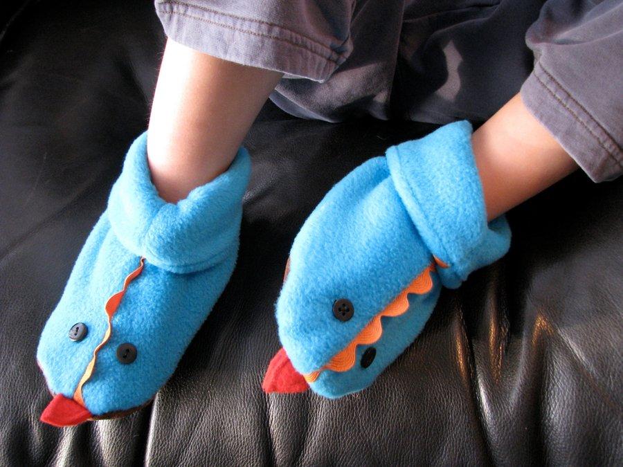 Тапочки домашние своими руками детские