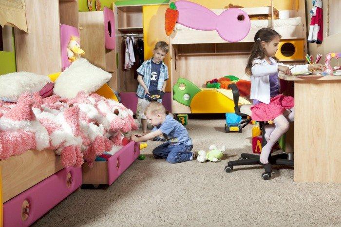 дети в одной комнате, как поделить территорию комнаты между детьми