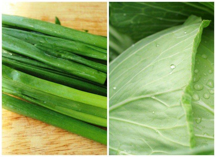 капуста и зеленый лук в рационе беременной женщины