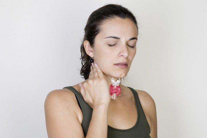 у женщины заболевание щитовидной железы