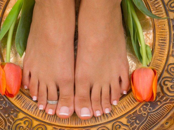 здоровые ногти на ногах, онихомикоз