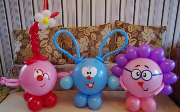 Смешарики из шариков