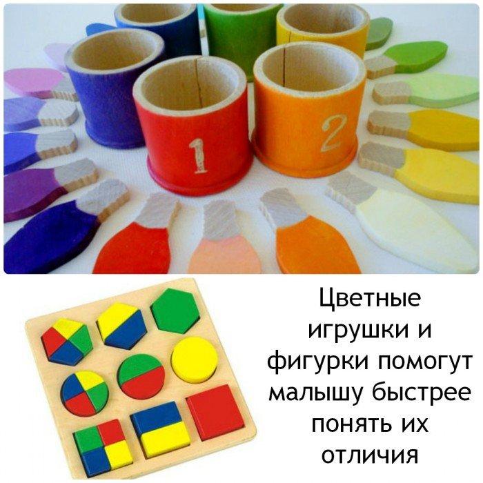игрушки для изучения цветов и форм