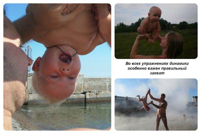 Во всех упражнениях динамической гимнастики очень важен правильный захват