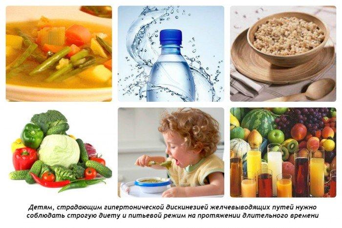 Гипертоническая дискинезия желчевыводящих путей у детей: диета