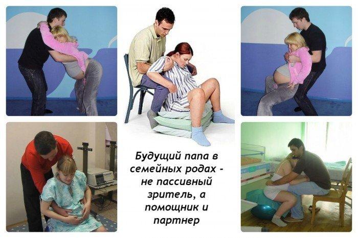 Муж - активный участник партнерских родов