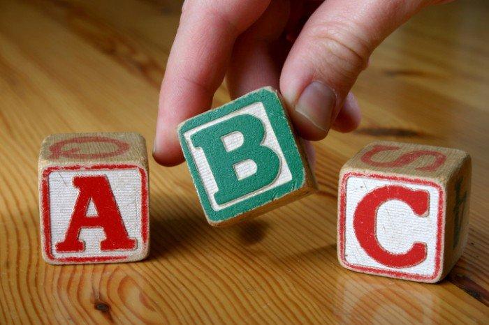 второй язык для малыша, кубики с английским алфавитом