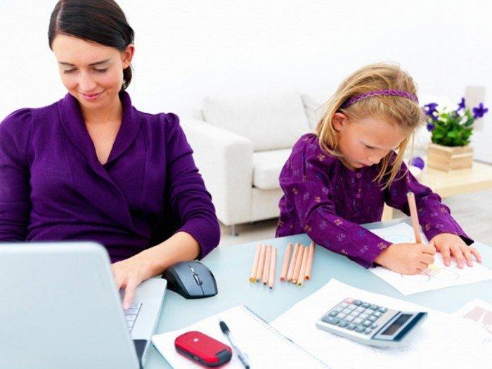 мама работает дома, работа фрилансером для мамы