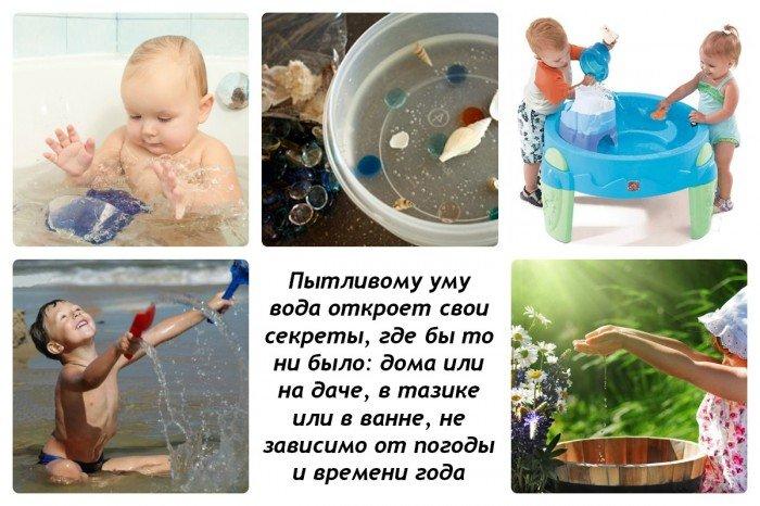 Игры с водой для детей: где можно играть с водой