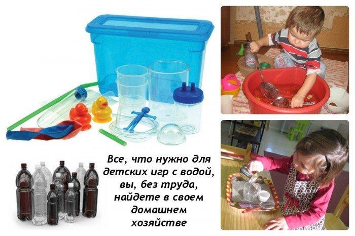 Игры с водой для детей: инвентарь