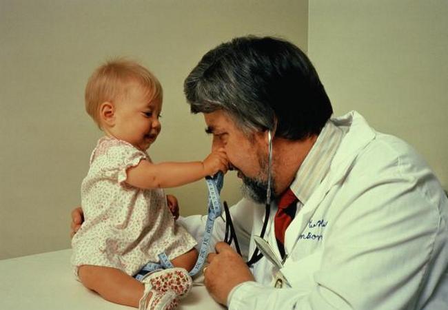 Ребёнок чувствует себя комфортно на приёме у педиатра