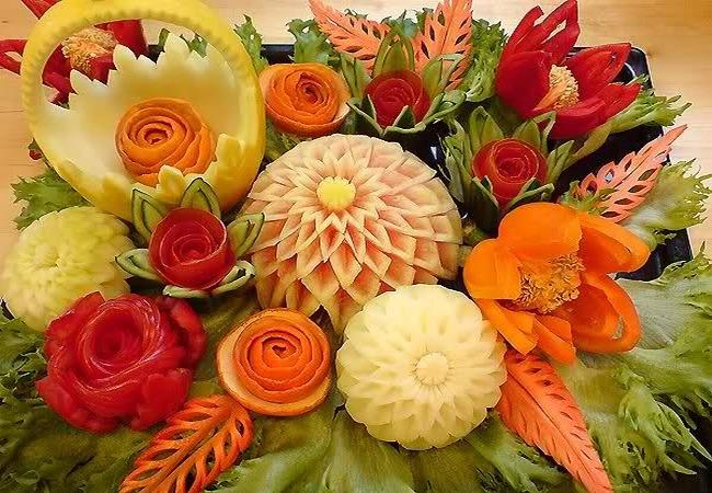 Как красиво оформить овощи для праздничного стола