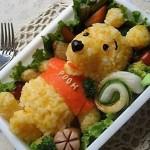 Винни-Пух из риса с овощами