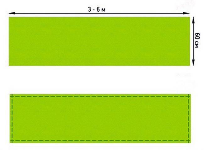 Слинг-шарф: выкройка