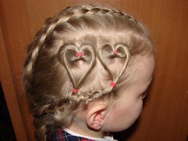 Причёска из косичек