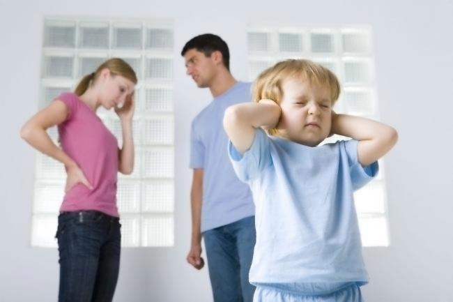 Малыш боится родительских ссор