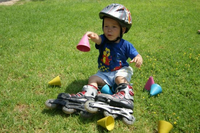 Дополнительный инвентарь для обучения езде на роликах