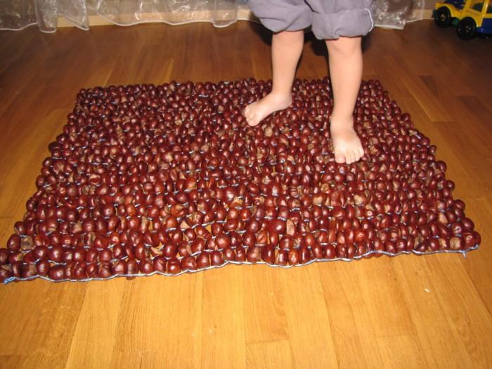 Массажный коврик для ног для детей своими руками фото