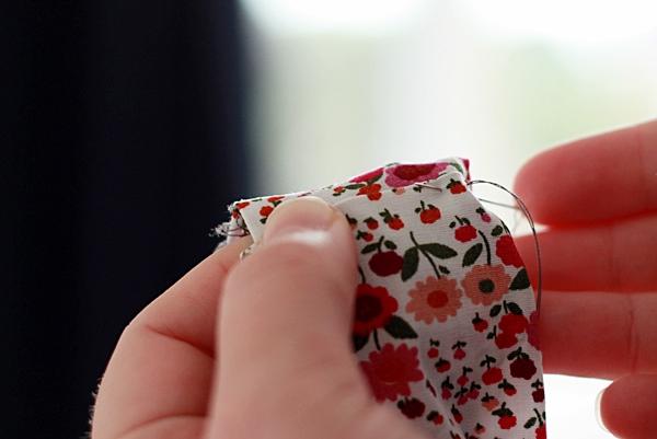 Прошивание ткани дляслингобус