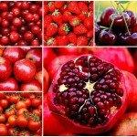 красные фрукты и овощи