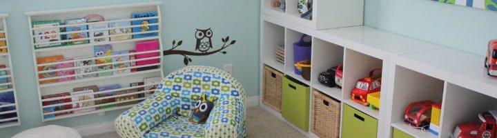 Порядок в детской комнате: варианты для хранения игрушек.
