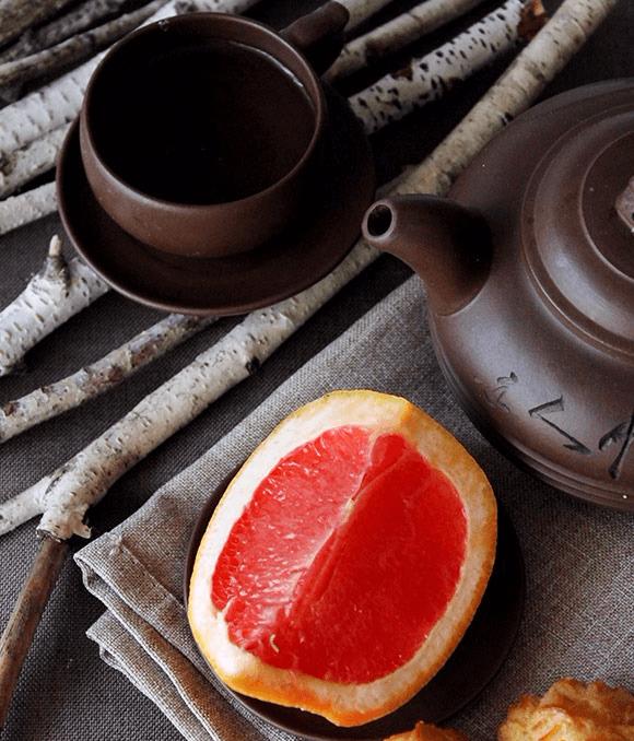 чай с грейпфрутом