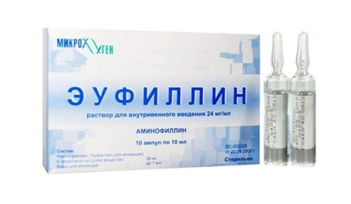 Эуфиллин в виде раствора