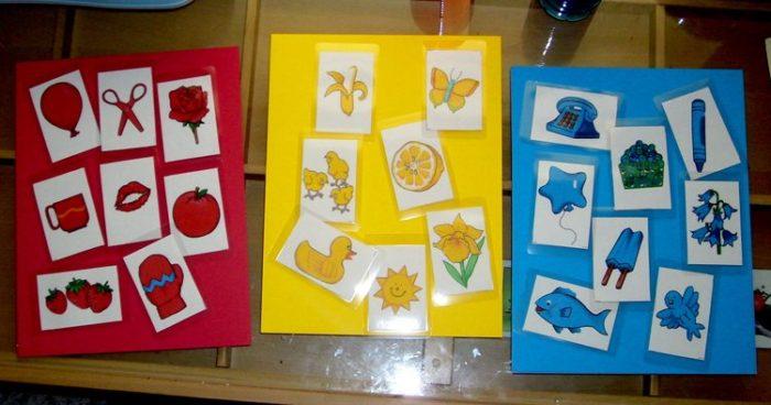 Цветовые карточки по Монтессори