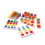 Развивающие деревянные игрушки по Монтессори