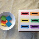 Сортер из картонной коробки