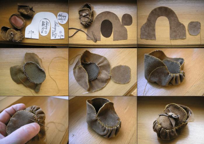 Обувь для вальдорфской куклы