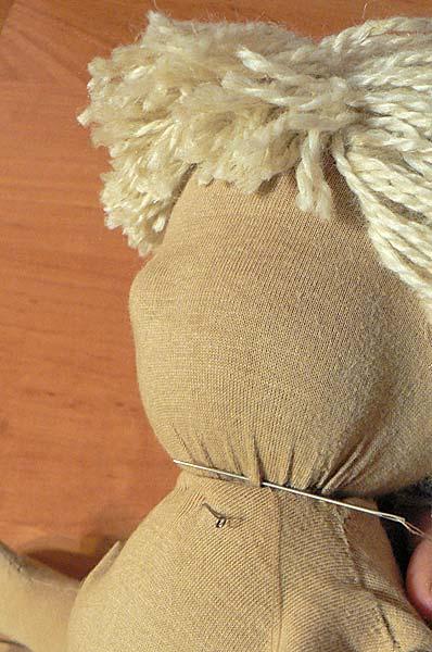 Пришивание головы