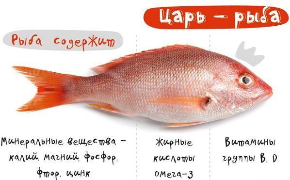 полезные вещества в рыбе