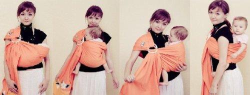Положения для ношения ребёнка в слинге с кольцами