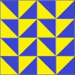 Жёлто-синий узор