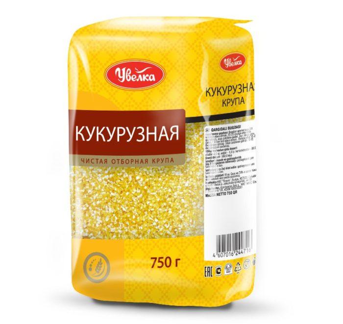 Кукурузная крупа в упаковке