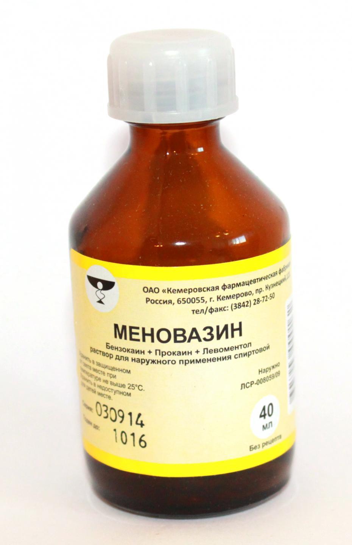 Меновазин от чего помогает - применение меновазина в 95