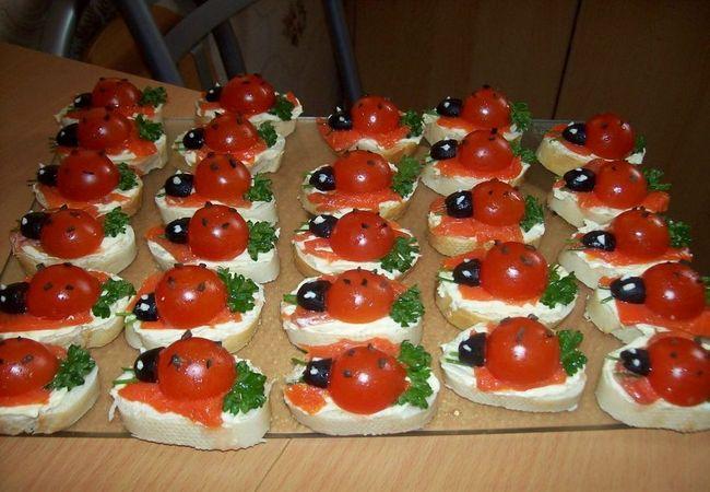 Праздничные бутерброды для детей