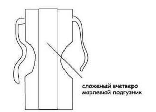 Прямоугольный подгузник