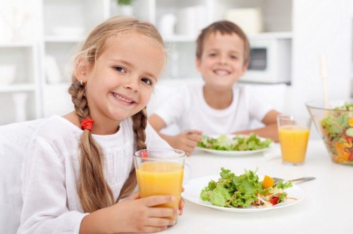 Здоровое питание для детей