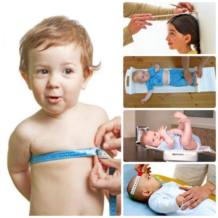 Центильные таблицы физического развития детей (рост, вес, обхваты груди и головы)