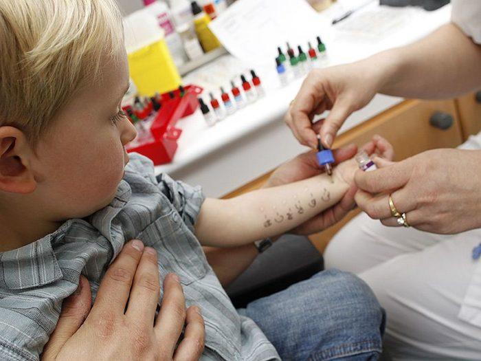Аллергопробы ребёнку