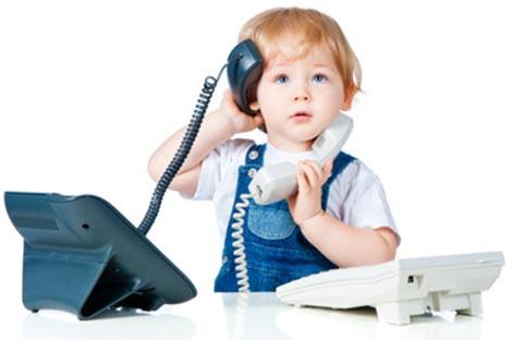 Малыш и телефон