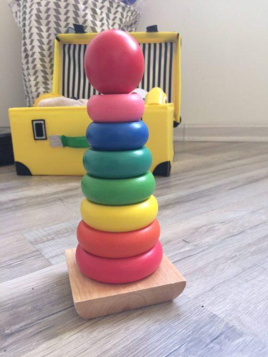 Деревянная классическая пирамидка
