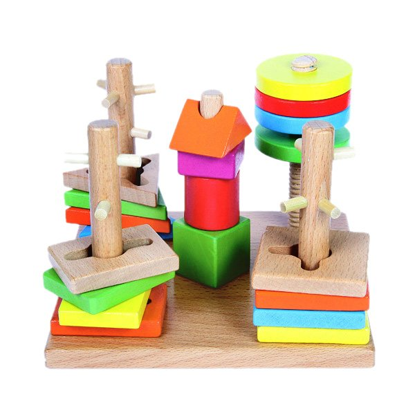 Логическая пирамидка на деревянной основе