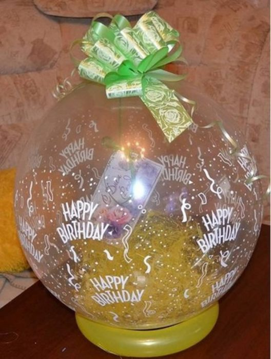 Как сделать шар сюрприз из воздушных шаров. - Своими руками 52