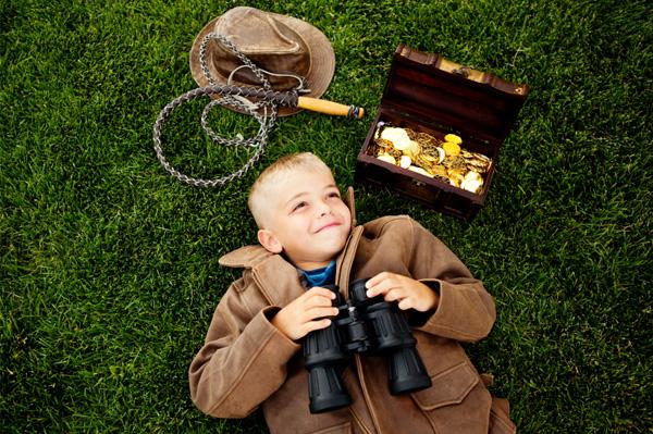 Мальчик нашёл сокровища