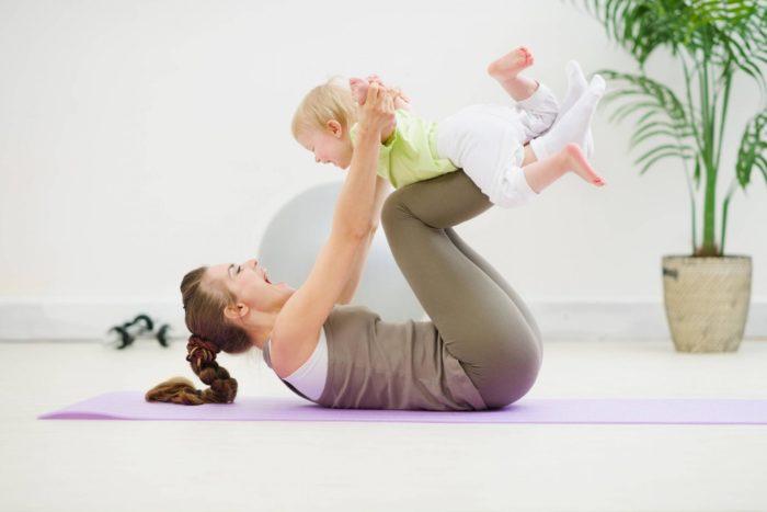 Гимнастика с малышом